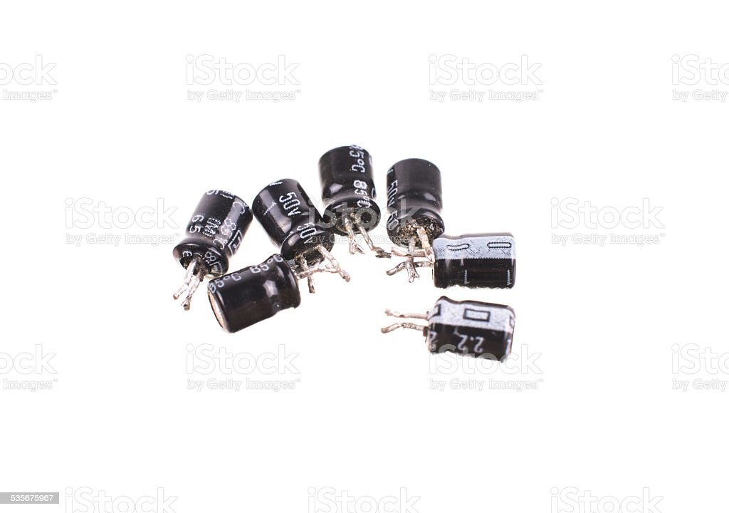Electronic Components mix stock photo