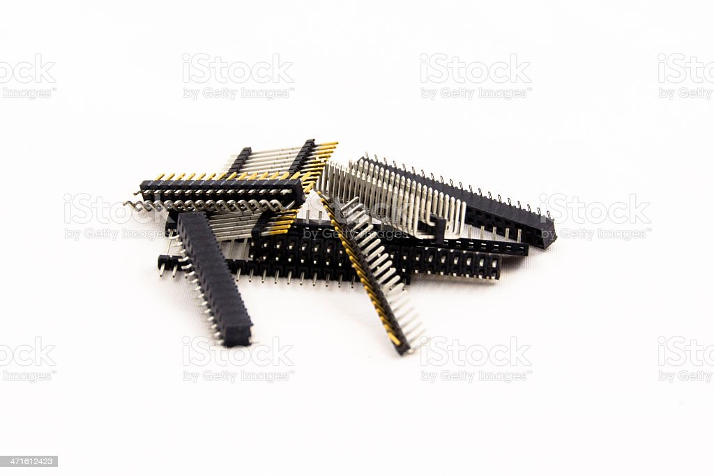 Electronic connectors royalty-free stock photo