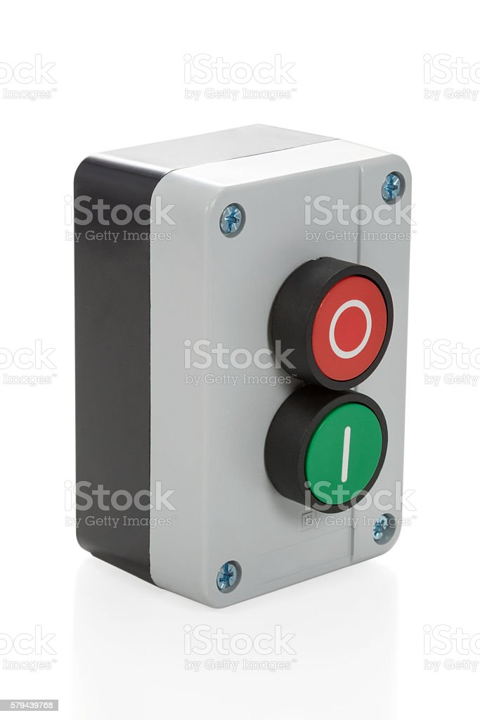 Electronic control switch stock photo