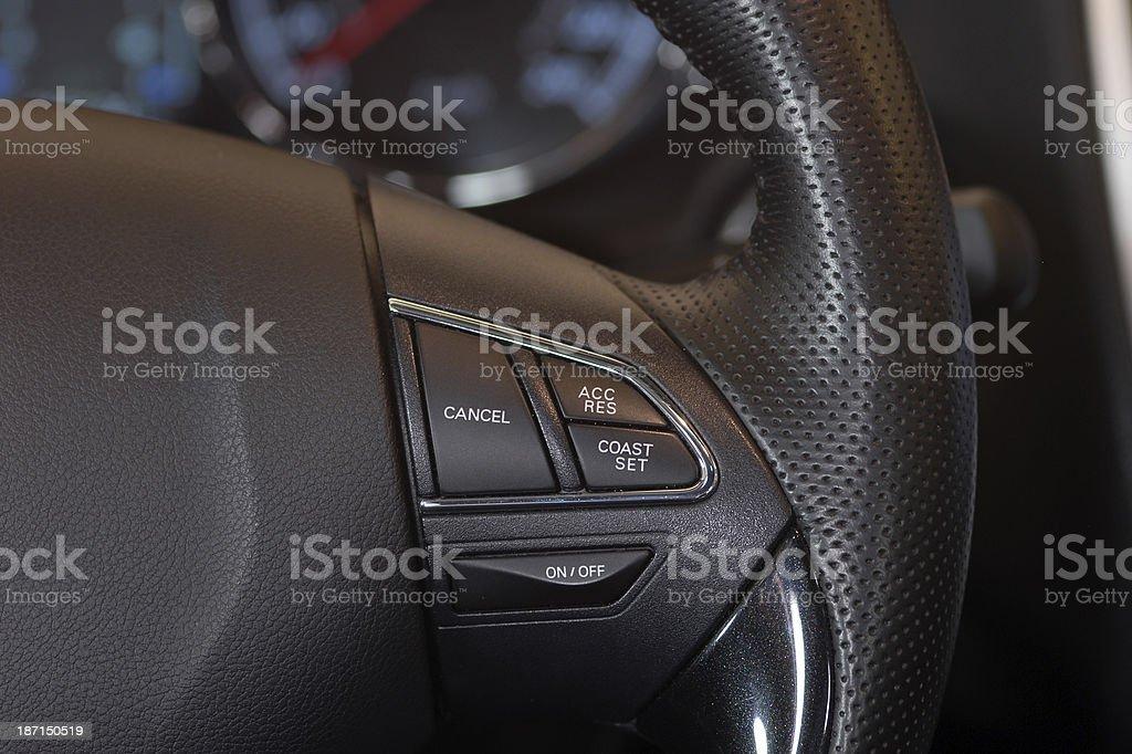 electronic Cruise control, tempomat royalty-free stock photo