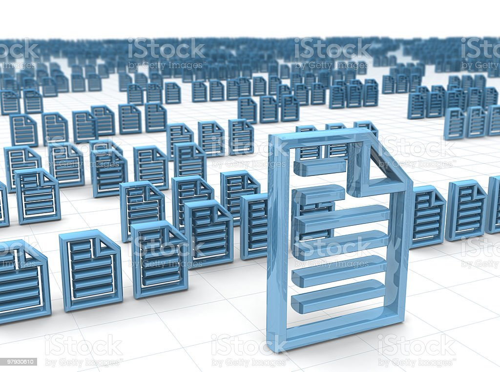 Electronic data storing and hosting concept stock photo