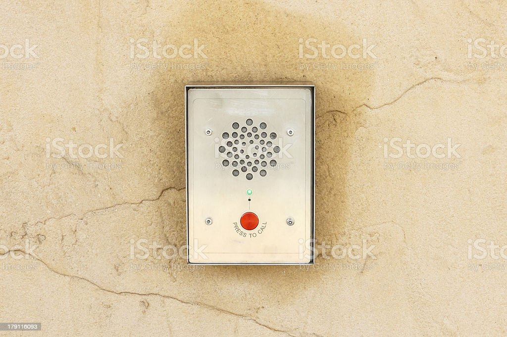Electronic device for intercommunication stock photo