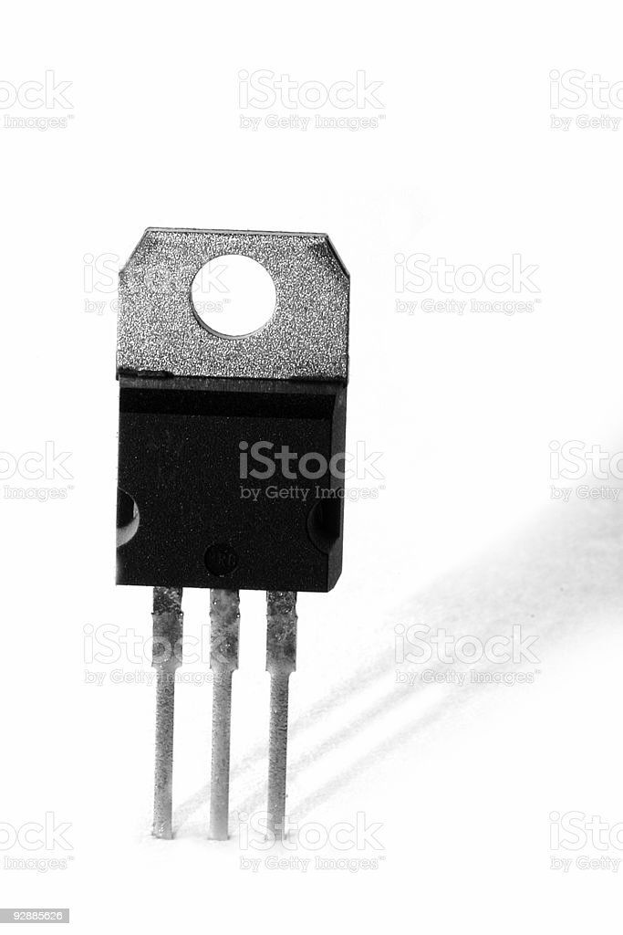 Electronic device (black and white isolation) stock photo