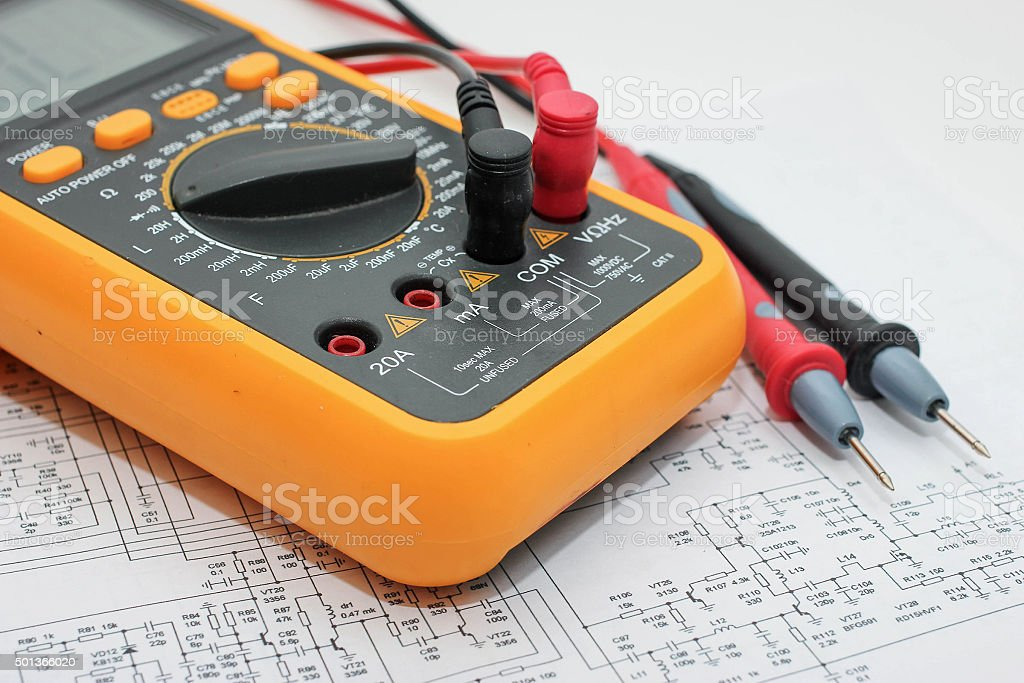 Electronic device - tester. stock photo
