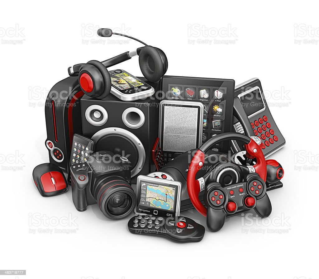 electronic devices stock photo