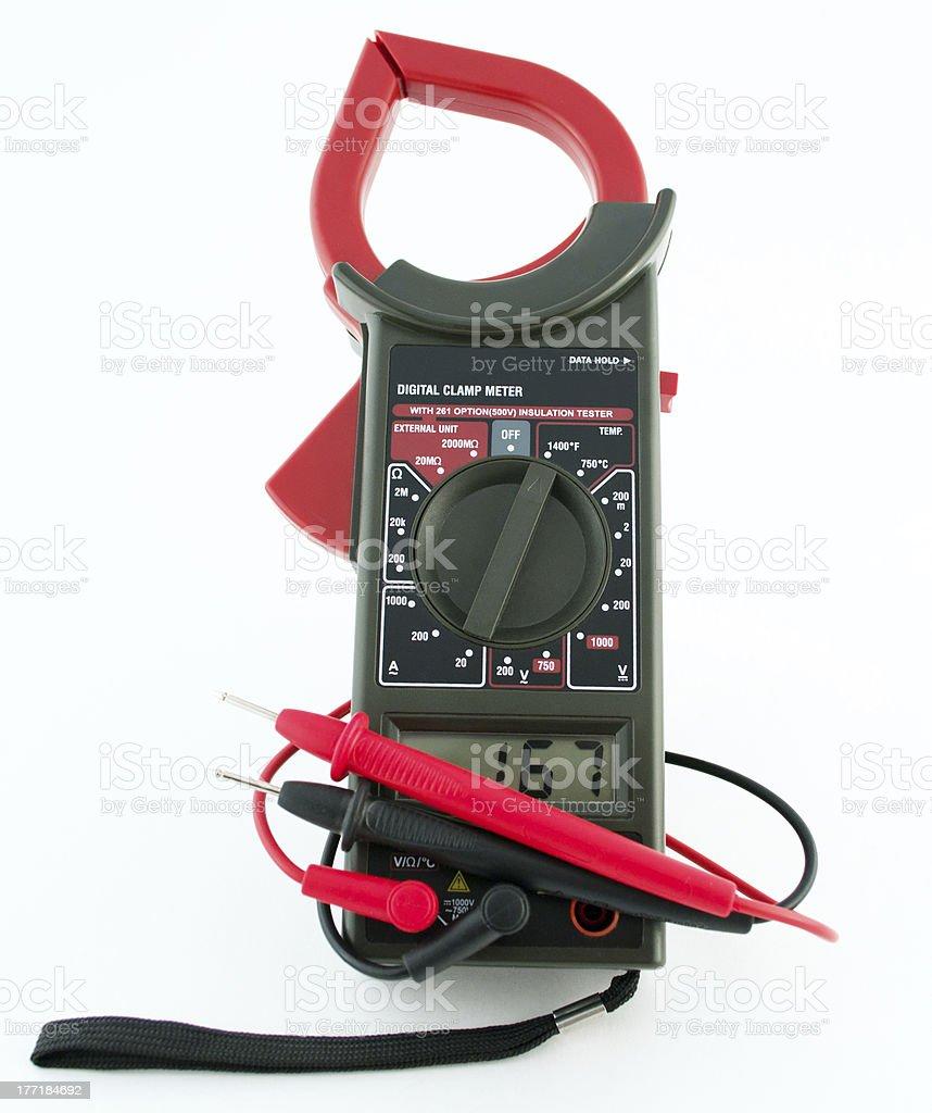Electronic digital multimeter royalty-free stock photo