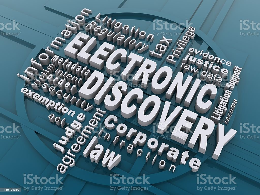 electronic discovery stock photo