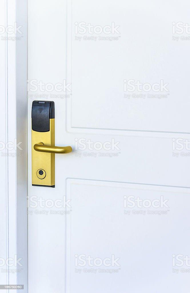Electronic door lock stock photo
