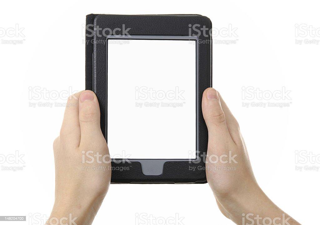 electronic e-reader stock photo