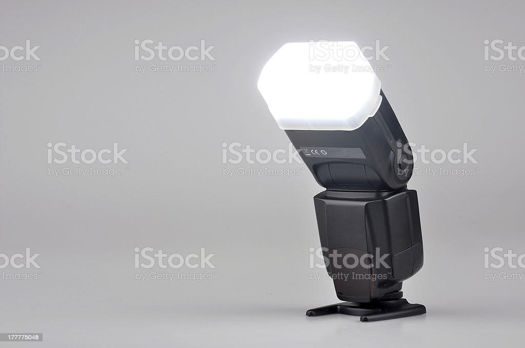 Electronic flash royalty-free stock photo