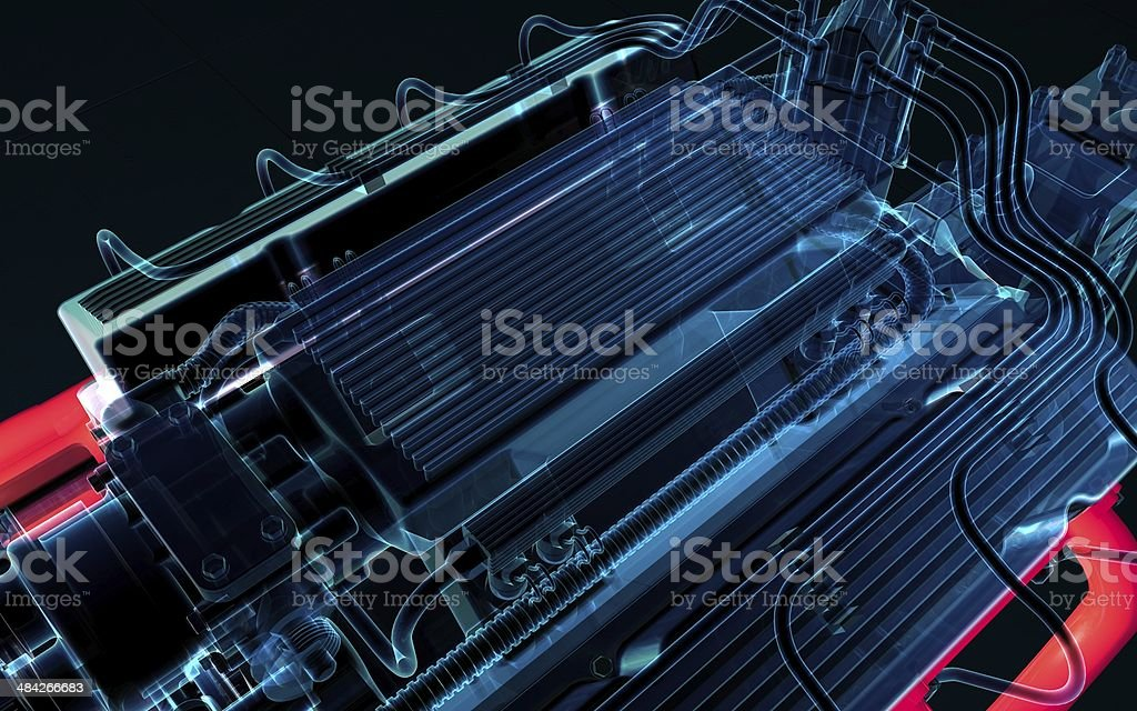Electronic fuel injection system royalty-free stock photo