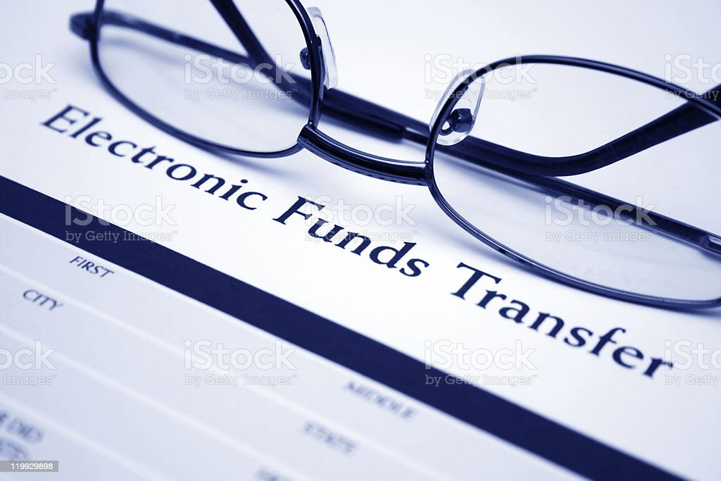 Electronic funds transfer stock photo