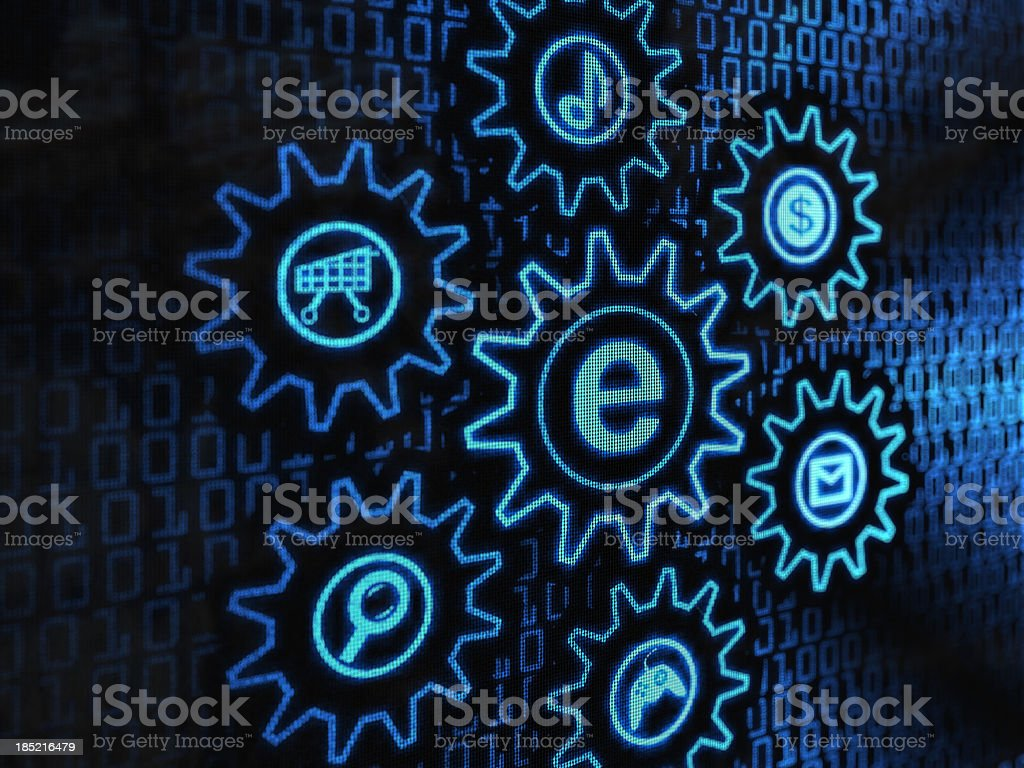 electronic gears royalty-free stock vector art