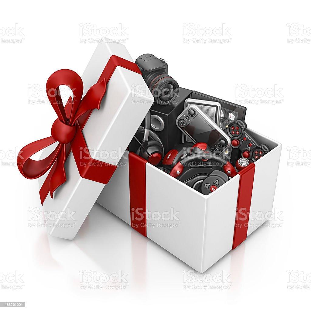 electronic gift box royalty-free stock photo