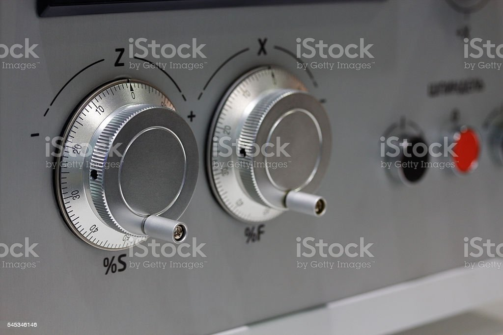 electronic hand wheels stock photo