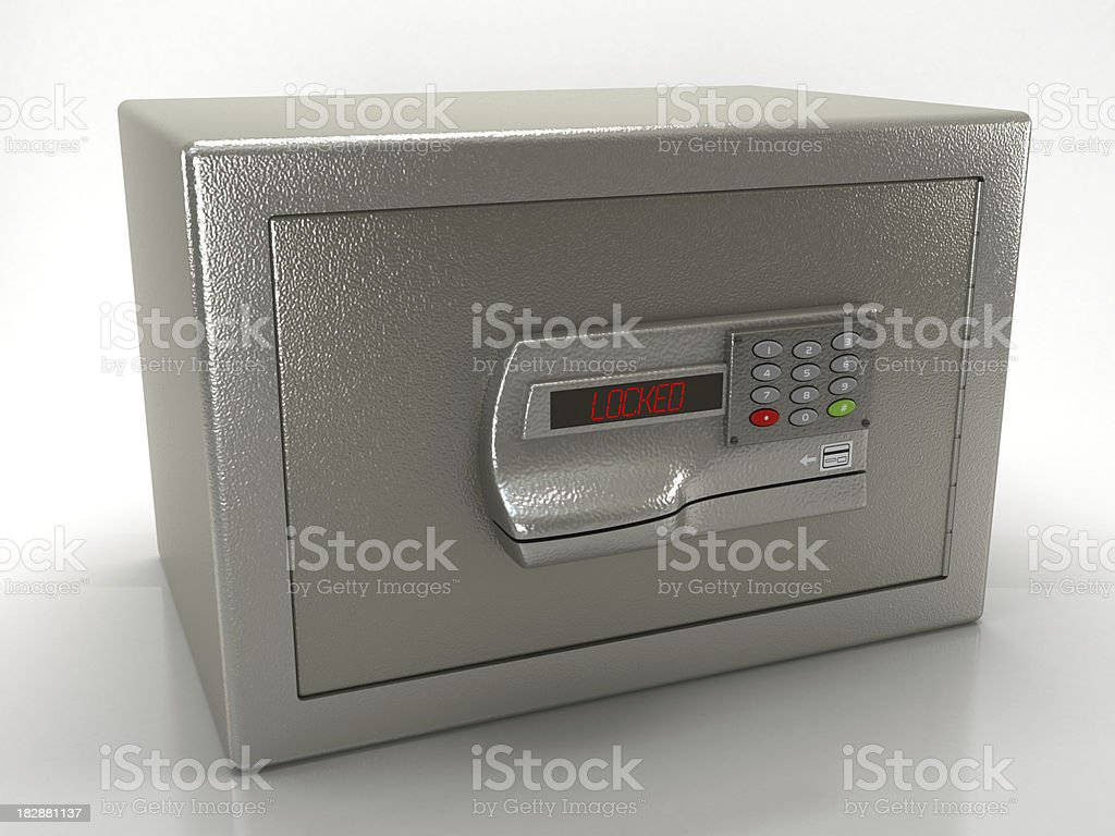 Electronic home safe royalty-free stock photo
