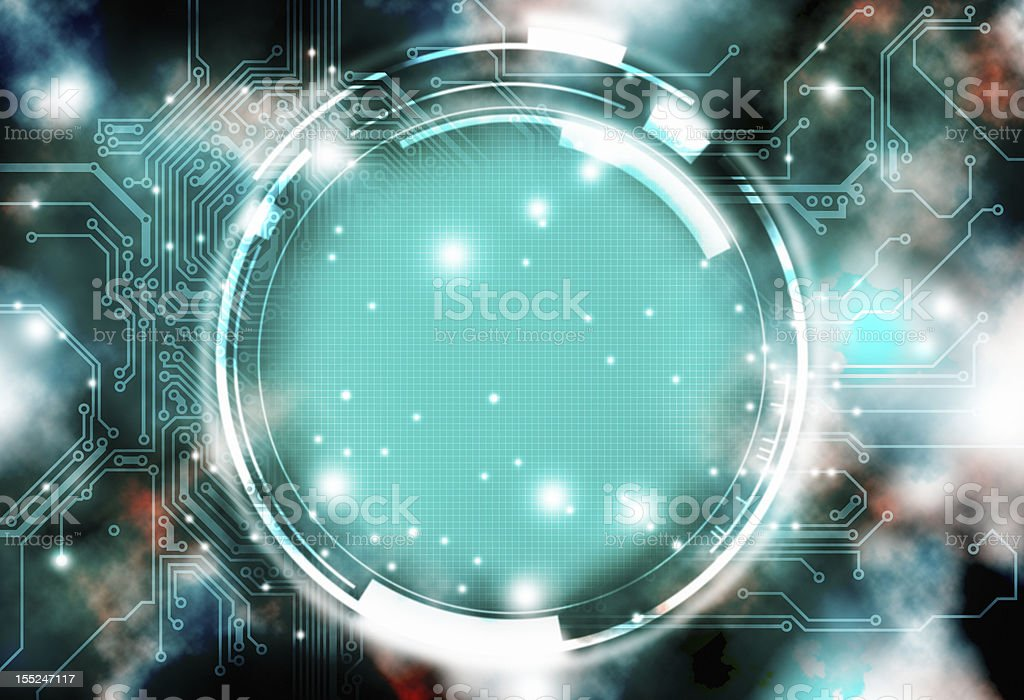 Electronic interface royalty-free stock photo
