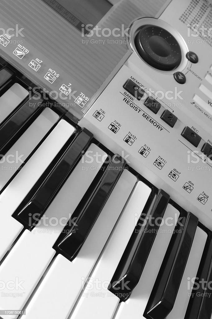 Electronic Keyboard royalty-free stock photo