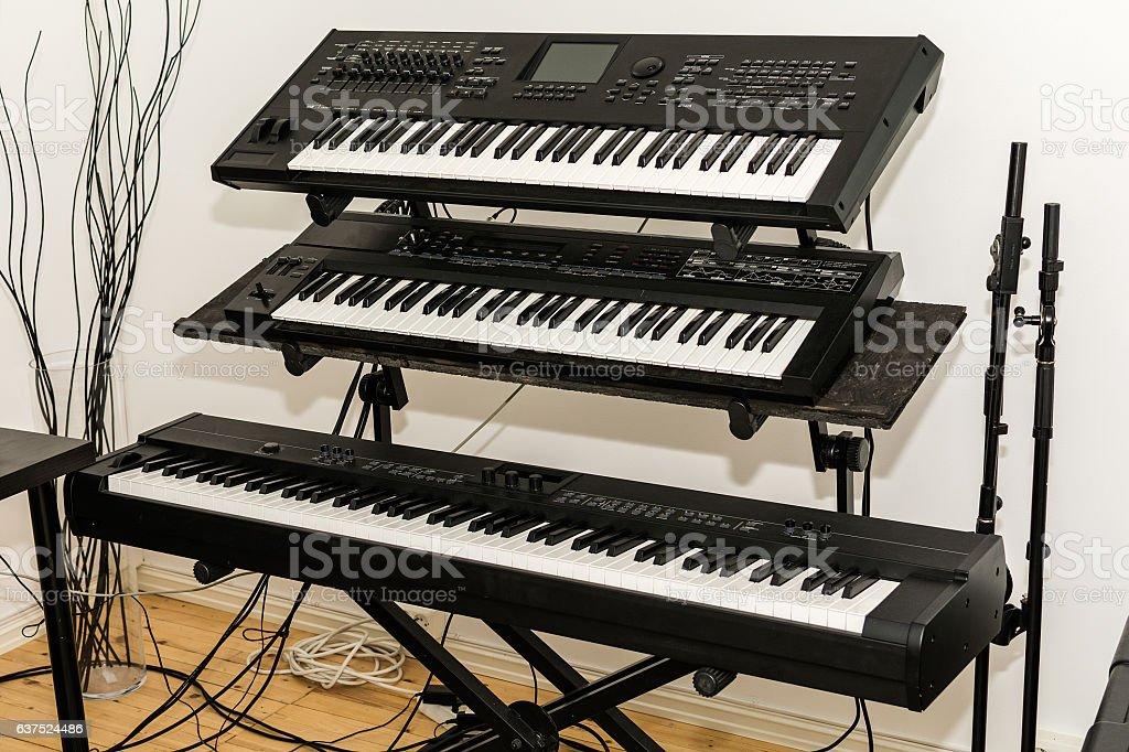 Electronic Keyboards (Synthesizer) stock photo