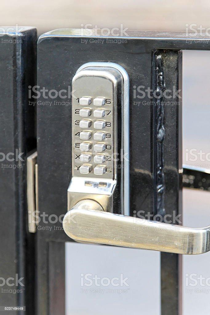 Electronic lock stock photo