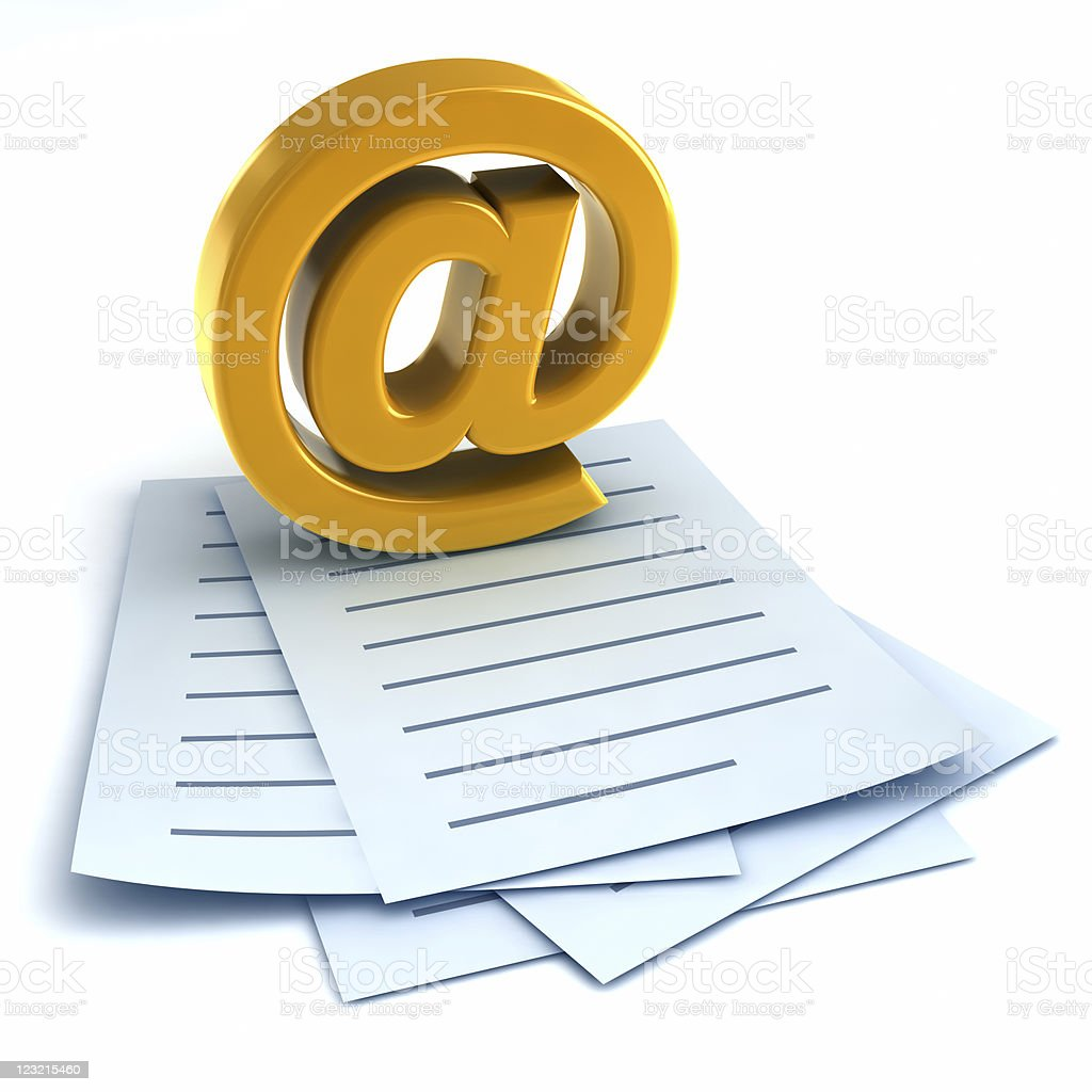 Electronic Mail royalty-free stock photo