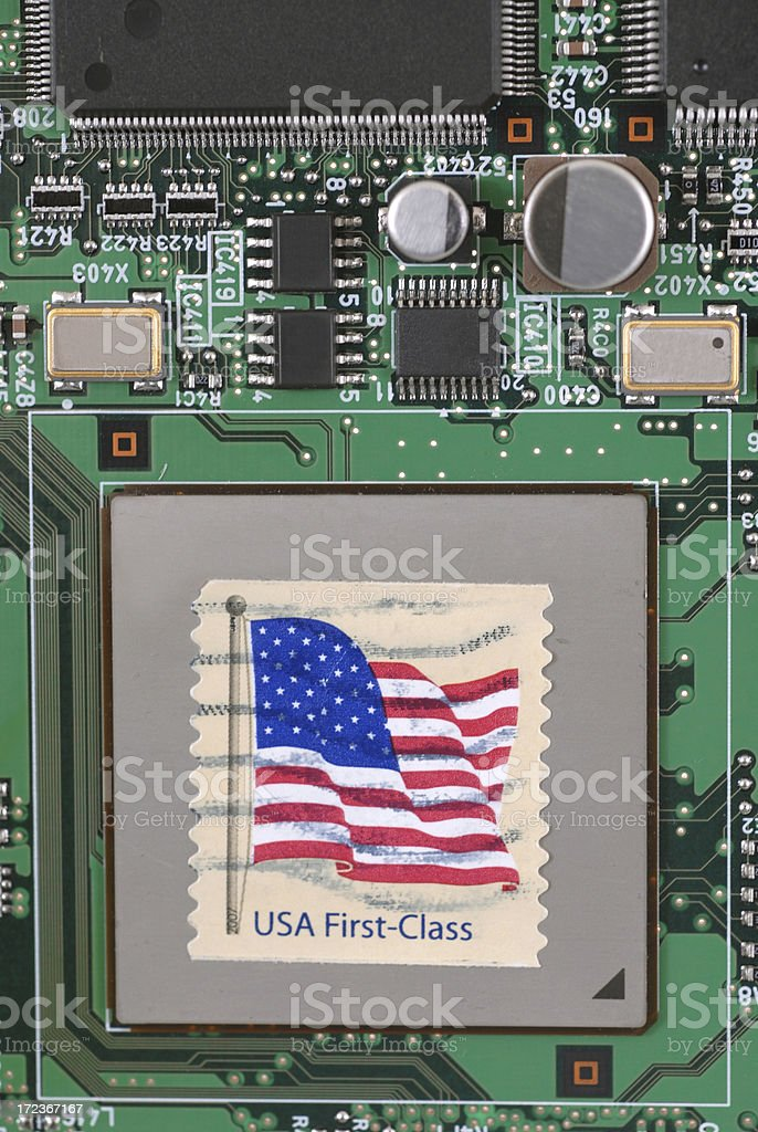 Electronic mail stock photo