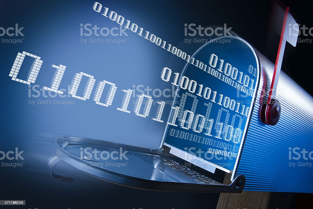 Electronic Mailbox royalty-free stock photo