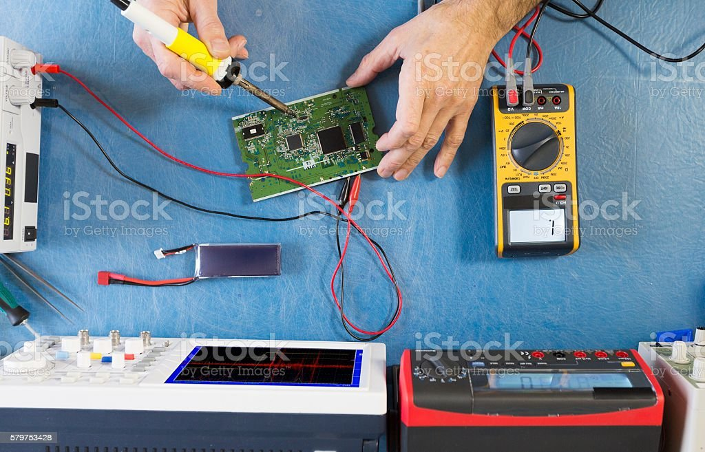 electronic measuring device stock photo