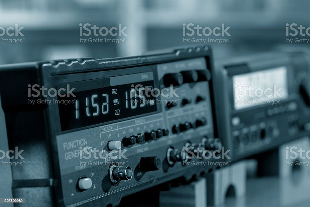 electronic measuring instruments stock photo