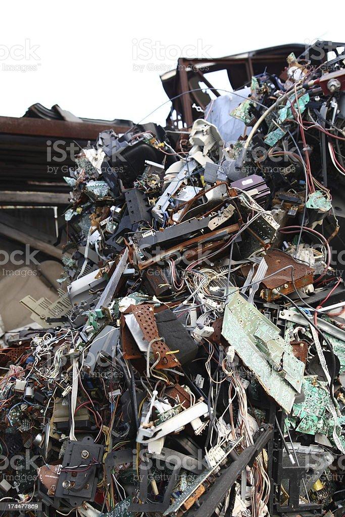 Electronic Metal Scrap Heap royalty-free stock photo