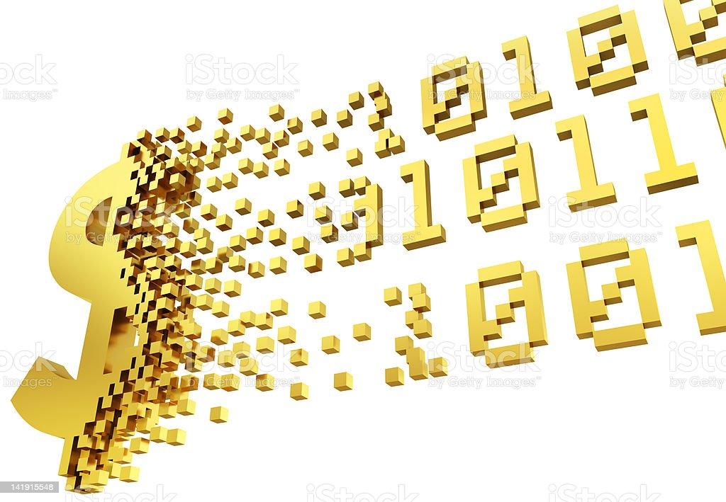 electronic money dollar symbol stock photo