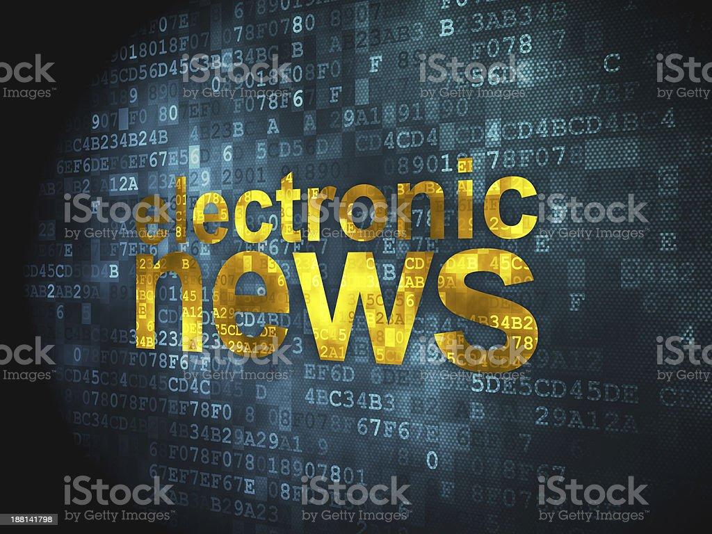 Electronic News on digital background royalty-free stock photo