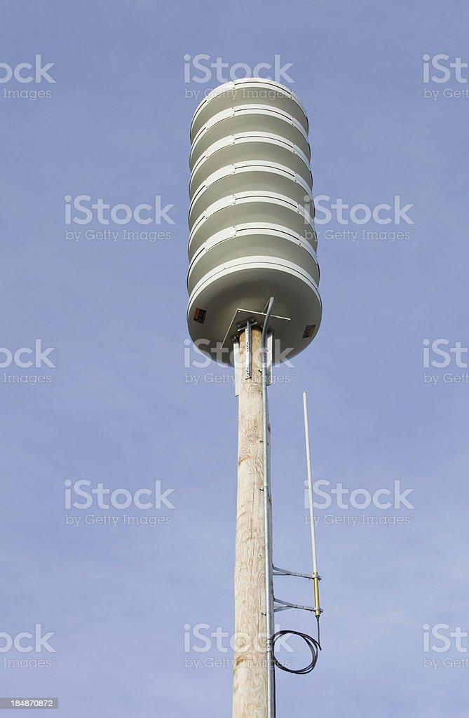 Electronic Omni-Directional Emergency Alert Sirens stock photo