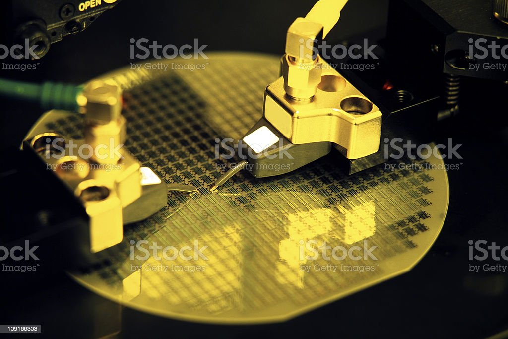 electronic part production stock photo