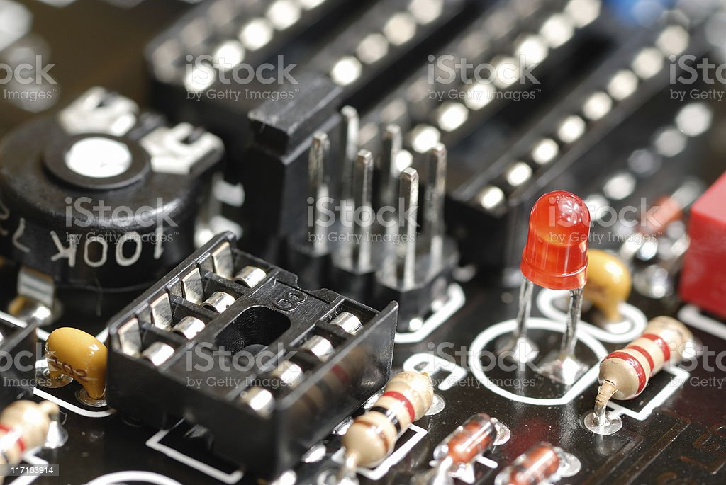 electronic parts royalty-free stock photo