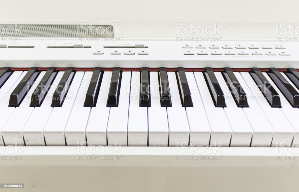 Electronic piano keyboard stock photo