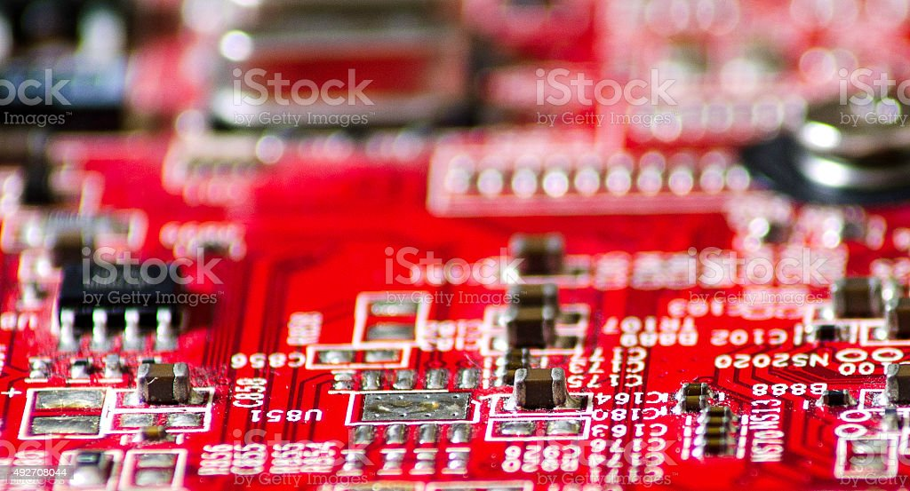 Electronic plate stock photo