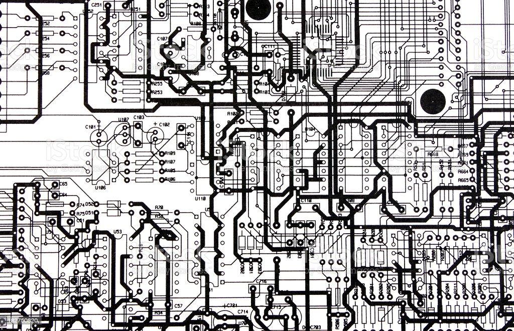 Electronic print circuit royalty-free stock photo