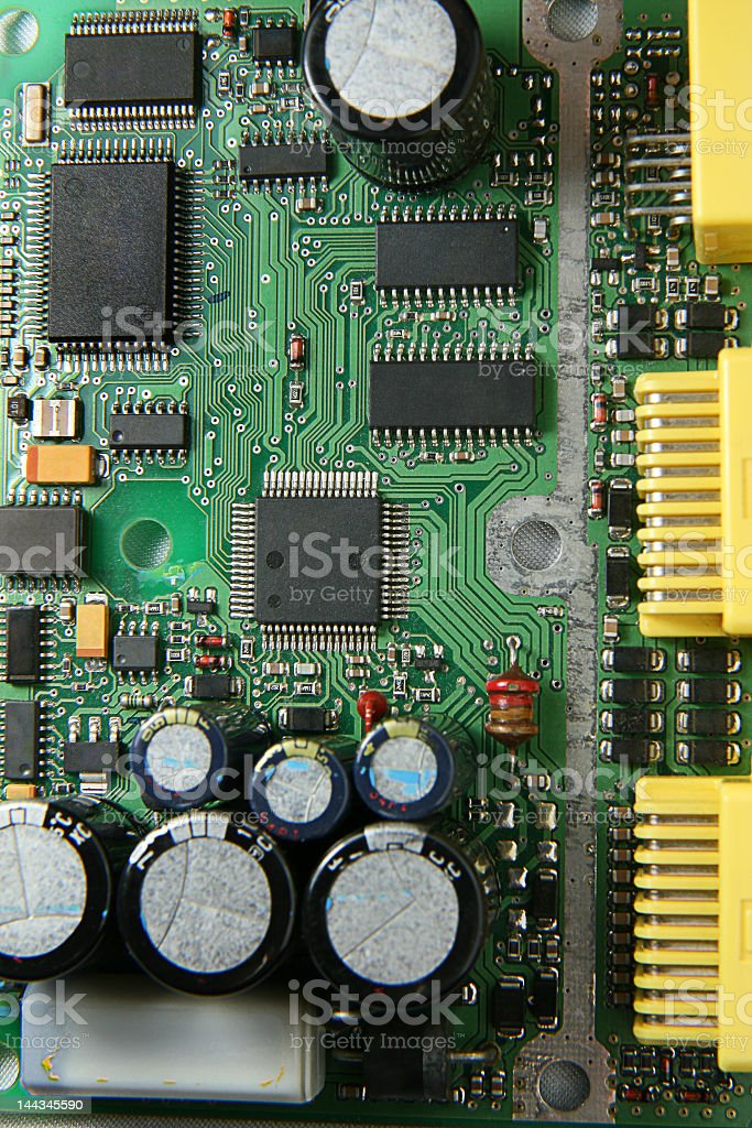 Electronic Printed Circuit Board royalty-free stock photo