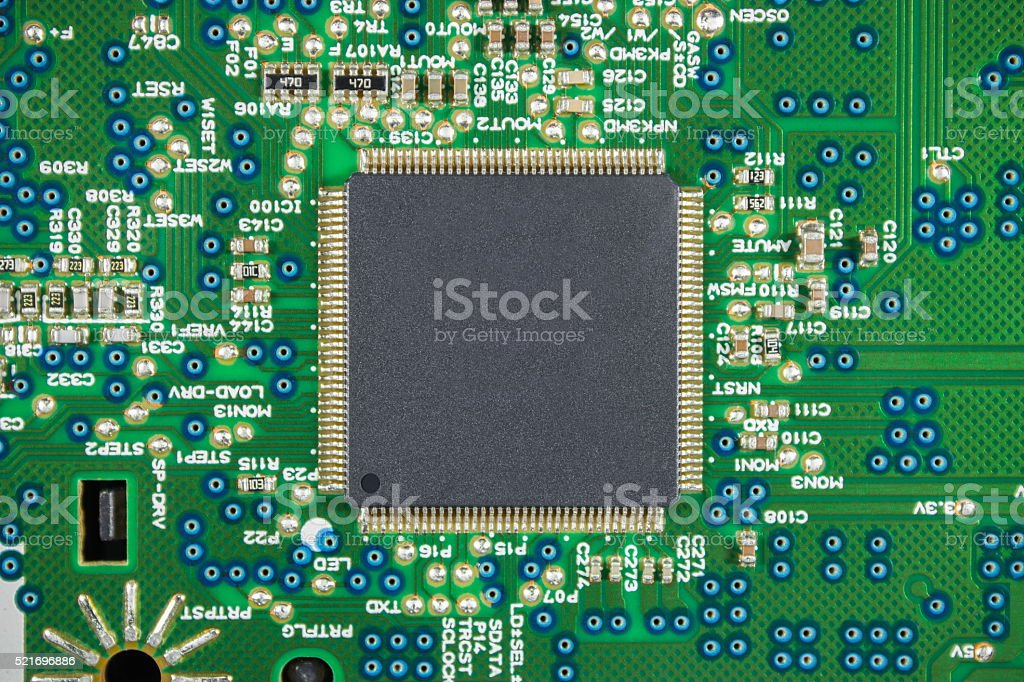 Electronic Processor stock photo