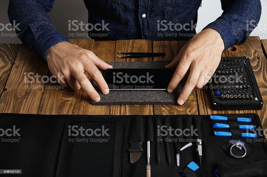Electronic repair service stock photo