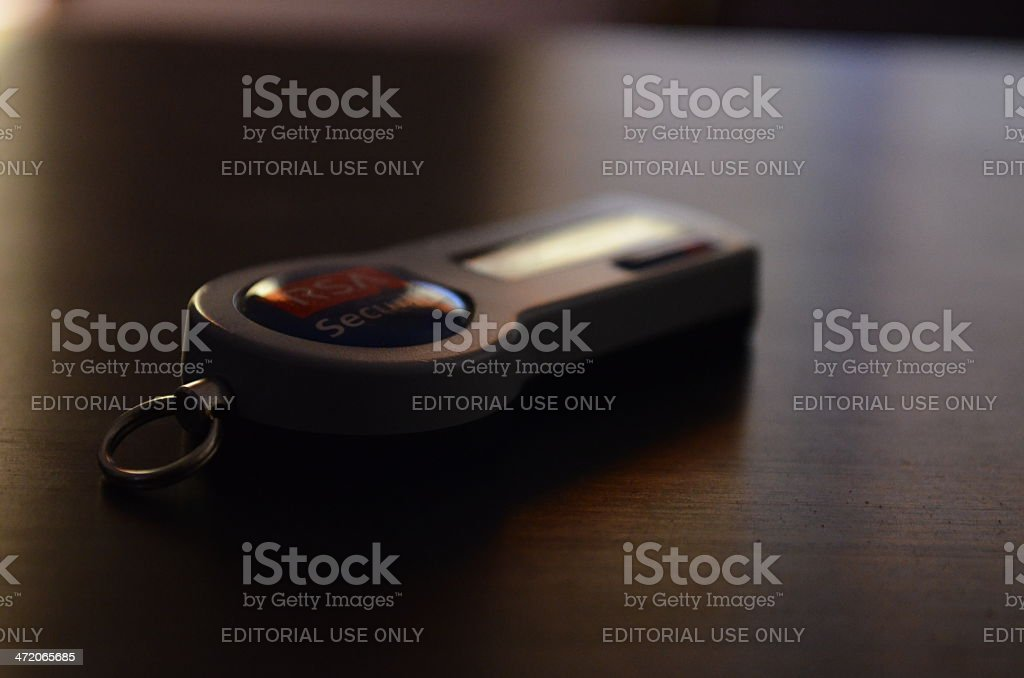 Electronic RSA Security Token stock photo