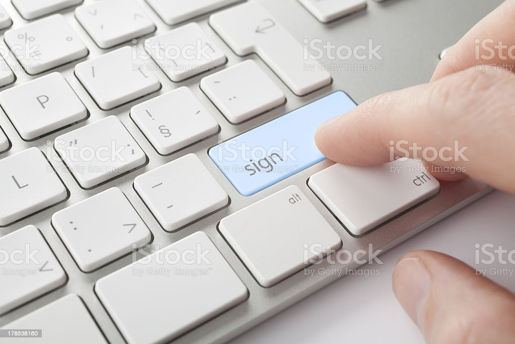Electronic signature stock photo