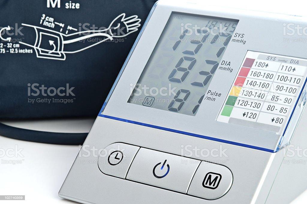 electronic sphygmomanometer royalty-free stock photo