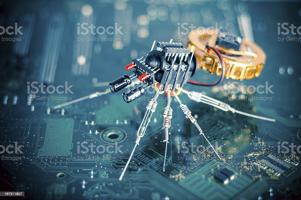 Electronic Spider stock photo