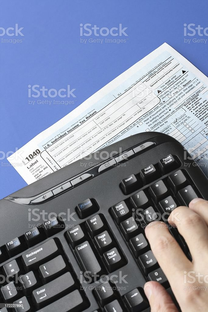Electronic Tax Preparation royalty-free stock photo