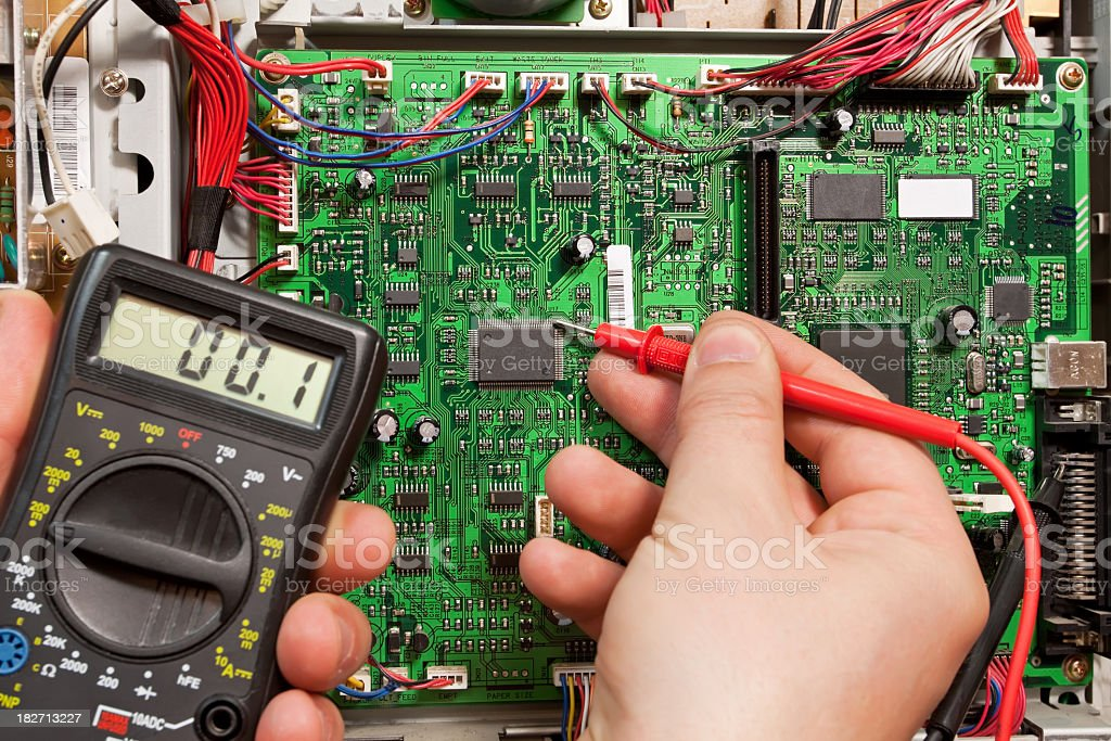 Electronic technician royalty-free stock photo