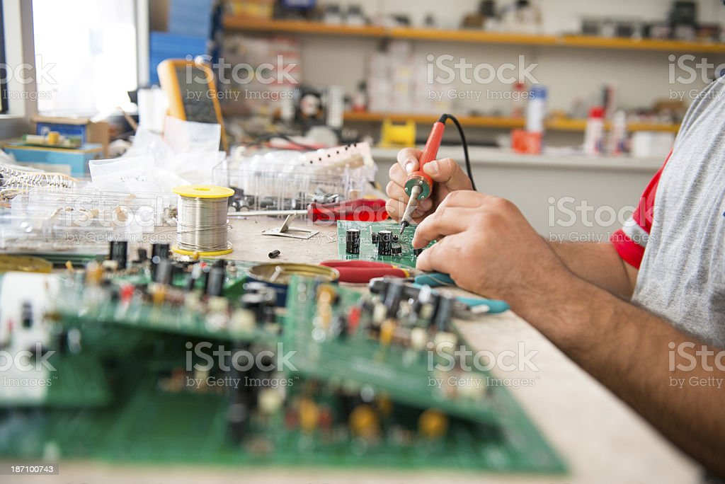 Electronic technician royalty-free stock photo