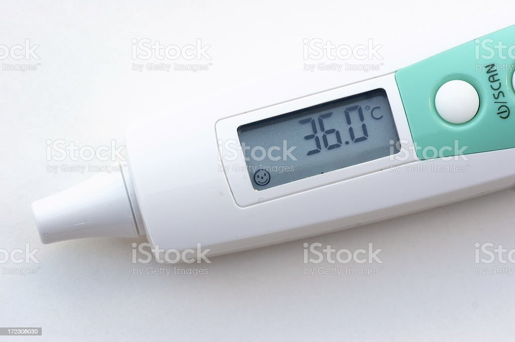 Electronic thermometer stock photo