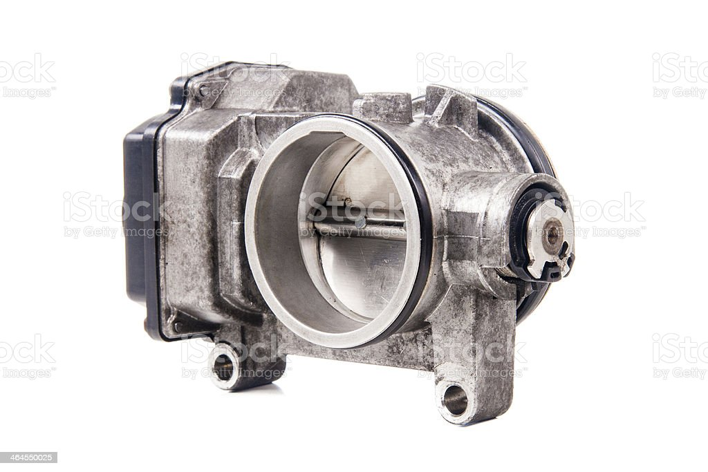 Electronic Throttle isolated on white stock photo